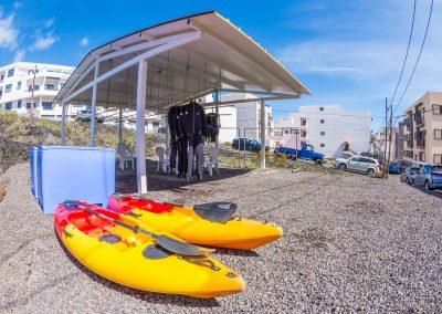 Buceo El Bajón, Kayaks