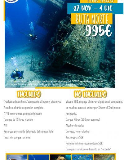 Mar Rojo Ruta Norte 27 nov- 4 dic